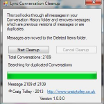 The main window of the application, in this case showing a completed run.