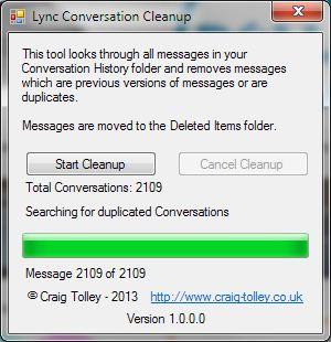 Microsoft Lync Conversation Cleanup