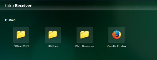 StoreFront Folder View
