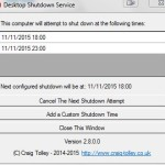Desktop Shutdown Service Main Window