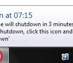 Desktop Shutdown Service Notification Popup